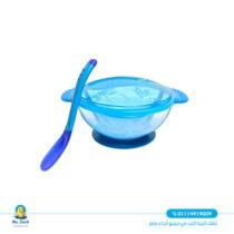 True feeding bowl with a spoon