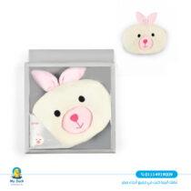 Newborn head pillow from junior rabbit shaped