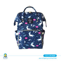 Le queen changing bag USB- Blue Black color with unicorn pattern