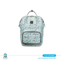 Lequeen diaper bag with charger - unicorn - mint color